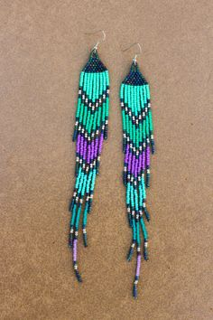 7.5Long Bohemian Beaded EarringsSeed Bead Shoulder by NativeStyles