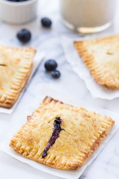 Gluten-Free Blueberry Hand Pies via @kingarthurflour