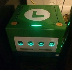 A very nice custom Luigi GameCube.