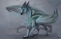 Winter dragoness by Allagar.deviantart.com on @DeviantArt