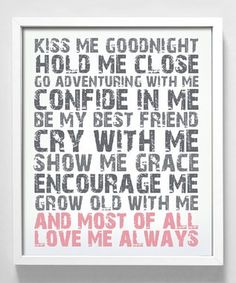 #Wedding Vows #Love Quotes #Love Notes One day I'll have this!