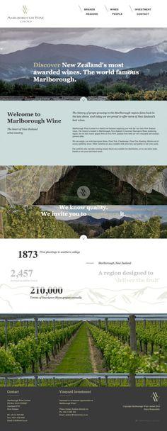 Marlborough Wine - Webdesign inspiration www.niceoneilike.com #html5, #css3, #jQuery, #Inspiration, #Website, #Company, #Wines