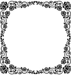 Roses and Frame vector