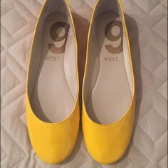 Yellow flats Worn a few times Nine West Shoes Flats & Loafers
