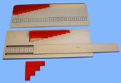 "Subtraction Strip Board:  Subtraction Strip Board The traditional Subtraction Strip Board works fairly well to reveal the minuend (number to be subtracted from), however when the minuend is above ""9"" it will teeter away from the board. Our improved Subtraction Strip Board has a slider to reveal the minuend. Children will enjoy the sliding action and the strip maintains precise balanced alignment. Montessori Classroom, Mathematics, Boards, Action, Number, Traditional, Children, Math, Planks"