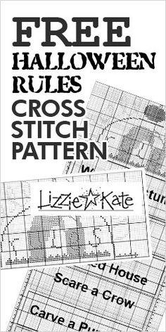 #Free #Halloween Rules #CrossStitch #Pattern! #freebie #freesample