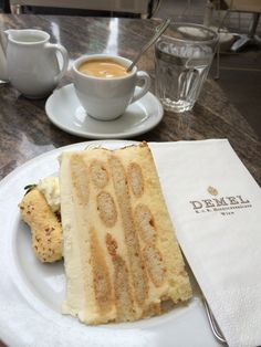 Coffee and cake at Demel in Vienna -- worth the caloric splurge!
