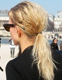 Karolina Korkova and her beachy braid