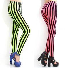 Vivid Color Striped Leggings-Korean Fashion, Unique Style Clothing Online. Korean Dresses, Fashion Leggings, Printed Leggings, Garter Leggings, Space Galaxy Leggings, Cartoon Leggings, Sexy Leggings, Mesh Leggings, Lace Leggings, Stripe Leggings. #korean #kpop #leggings #fashiontoany