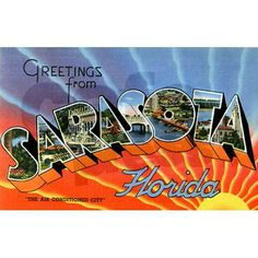 Sarasota Florida Greetings Postcards (Package of 8 on CafePress.com