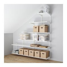 Algot system from IKEA. This would be ideal in my under stairs cupboard which has a sloping ceiling