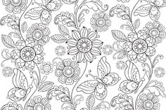 Paisley Pattern - Coloring Book Cafe