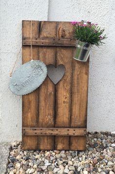 Fensterladen Herz Holz Dekoration Gartendekoration Rankhilfe Aufsteller in Garten & Terrasse, Dekoration, Sonstige   eBay!