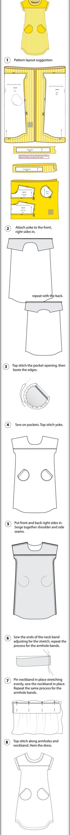 T-Shirt Dress Step-by-Step Sewing Instructions