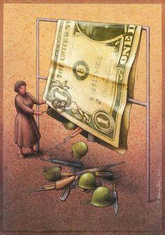 Une sélection d'illustrations satiriques de Pawel Kuczynski, un illustrateur polonais au style faussement enfantin. Des illustrations à la fois drôles, mais