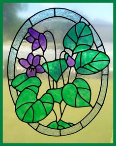 Violets Panel window cling decal - Aggies Attik. Webs