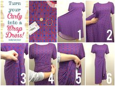 b74b5bf271e9 ⭐Tips  amp  Tricks Tuesday⭐ Wear your Carly as a wrap dress! Supplies