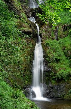 Pistyll Rhaeadr Waterfalls, near Llanrhaeadr-ym-Mochnant, Powys, Wales, UK | A spectacular and impressive waterfall surrounded by lush green vegetation (6 of 10)
