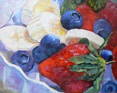 Still Life Original Oil  Fruit Painting OOAK by CarolSchiffStudio, $229.00