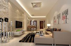 Modern Minimalist Living Dining Room Lighting Rendering | Download 3D   #7 Designs Ideas