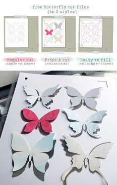 free Butterfly Silhouette .studio cut files (in 3 styles)