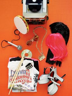 """Rockin' Karaoke Party: Decorated Performance: Keep a stash of inexpensive props """"backstage"""" for the performers to use or wear during their time in the spotlight."""