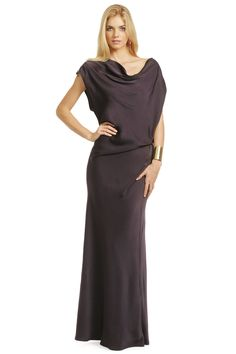 This may not have plunging lines or a lot of bling, but you can't get much more chic than this gorgeously draped dress!