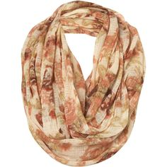 Cream Floral Print Snood ($32) ❤ liked on Polyvore featuring accessories, scarves, accessories - scarves, bufandas, women, floral shawl, cotton scarves, cotton shawl, floral scarves and snood scarves