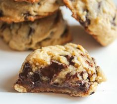 soft, chewy chocolate chip cookies. instead of baking right away, form the cookie dough into balls, drop into a freezer safe ziplock bag and freeze for at least 48 hours. i don't know why this makes it more awesome--but it does!
