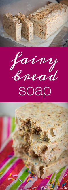Use up all your old soap scraps by making a big batch of Fairy Bread Soap! What a fun idea! So love this and will do this when I have enough colored scraps! Like all the brown, maybe hot process some scraps of milk soap scraps then shred them. Making Bar Soap, Soap Making Recipes, Soap Recipes, Fairy Bread, Milk Soap, Cold Process Soap, Home Made Soap, Lotion Bars, Handmade Soaps