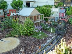 Centralia Garden Railroad - I know it isn't a dollhouse per say, but how cool is this?  I need one of these in my backyard.