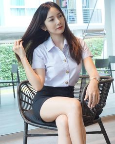 Nick Chatchada is a talented artist and very popular among fans. Nick Chatchada photo gallery with amazing pictures and wallpapers collection. Beautiful Chinese Girl, Beautiful Legs, University Girl, Pretty Asian, Cute Girl Photo, Sexy Skirt, Cute Asian Girls, Asian Woman, Beauty Women
