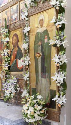 Orthodox Easter, Orthodox Icons, Flower Decorations, Christianity, Catholic, Hand Painted, Flowers, Photography, Painting