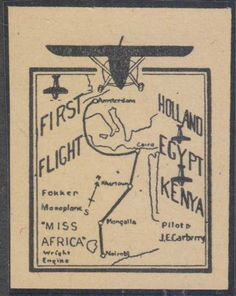 Air Post Label to Kenya 1928