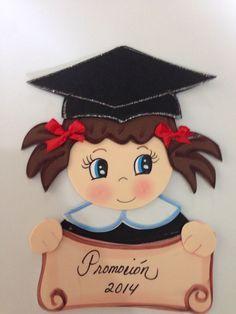 Grado Graduation Crafts, Graduation Party Themes, Graduation Cookies, Kindergarten Graduation, Foam Crafts, Diy And Crafts, Crafts For Kids, Arts And Crafts, Paper Crafts