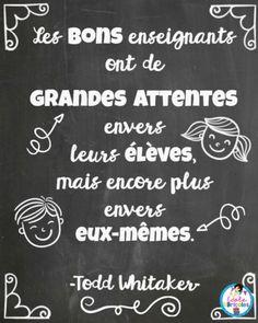 Great Quotes, Inspirational Quotes, Education Positive, Quote Citation, Photo Album Scrapbooking, French Quotes, Motivation, Positive Attitude, Teacher Appreciation