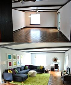 Creative ideas to add color to boring white apartment walls, no painting involved! #apartment
