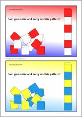 Here's a set of pattern cards for use with Unifix or Snap cubes.