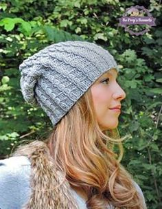 d04f62ebe76 Items similar to Hipster Slouch Beanie in Soft Grey