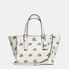 Coach satchel with black and pale pink flowers See It f2b435698dc30