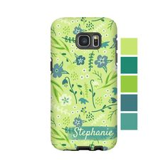 Floral Galaxy S7 Edge case/S7 case flowers Galaxy by EpigramCases