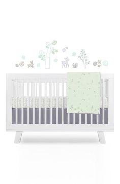 'Woods' Crib Sheet, Crib Skirt, Stroller Blanket & Wall Decals