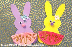 "Today's Craft Foam Bunny Ballerinas kid's craft idea is extra fun for the little girls in your life! These ""super"" creative and magical creations are perfect for your Easter and spring celebrations, as well as in your child's everyday creative imaginative play. We hope we DANCE into your hearts today! #gluedtomycraftsinspiresyou It all started with a trip to Michaels…. …"