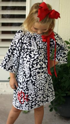 Monogram Dress Infant Christmas Dress Christmas by TheOrneryOwl