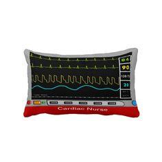 Cardiac Nurse Pillow Monitor Design from Zazzle.com