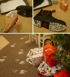 Santa was here! Water and baking soda, cute. Santa was here! Water and baking soda, cute. Christmas To Do List, Its Christmas Eve, Christmas Wonderland, Christmas Gift Box, Little Christmas, Family Christmas, Holiday Fun, Christmas Holidays, Christmas Decorations