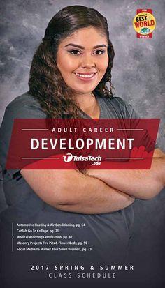 Tulsa Tech Part-Time Class Catalog - Spring 2017 Tulsa Tech, Career Training, Summer Classes, Part Time, Heating And Air Conditioning, Career Development, Catalog, Medical, Social Media