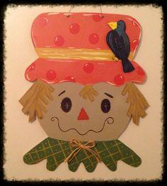 Scarecrow door hanger  on etsy: furnitureflipalabama