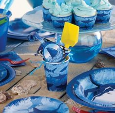 CAUTION: It's shark infested birthday party!