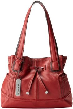 Tignanello Super Stitch Drawstring Shoulder Bag 82